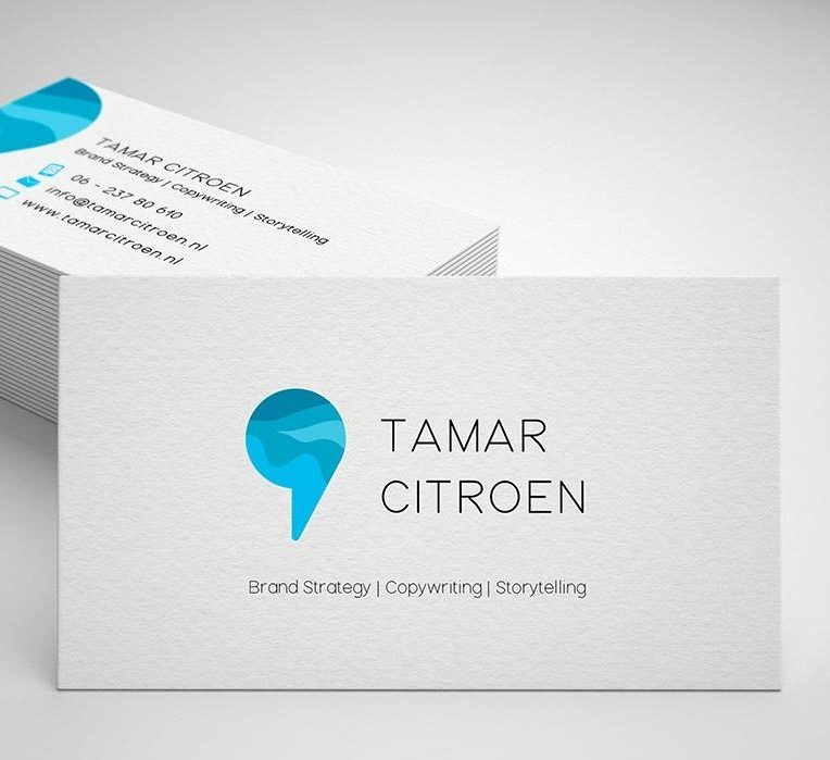 Copywriter design business card